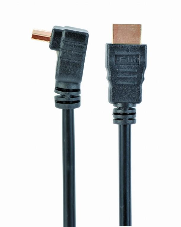 High Speed HDMI kabel met Ethernet, haakse connector, 1.8 meter