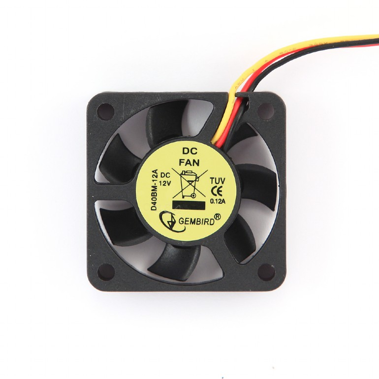 40x40x10mm kogellager DC fan, 12 V, 70 mm kabel