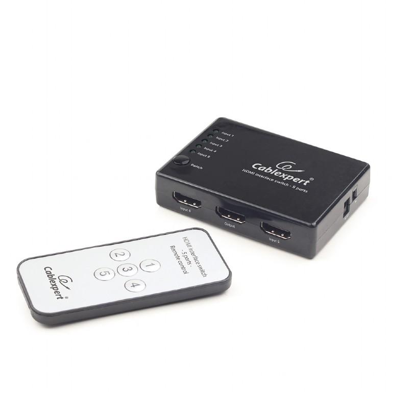 5-poorts HDMI switch + afstandsbediening
