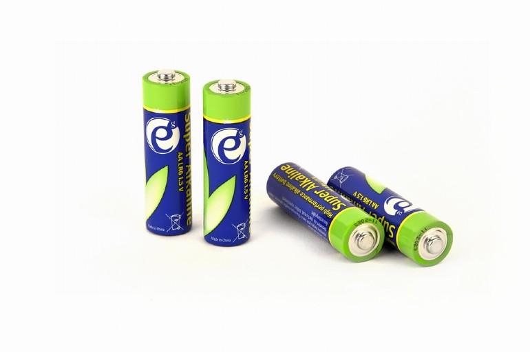 Alkaline AA batterijen, 4 stuks
